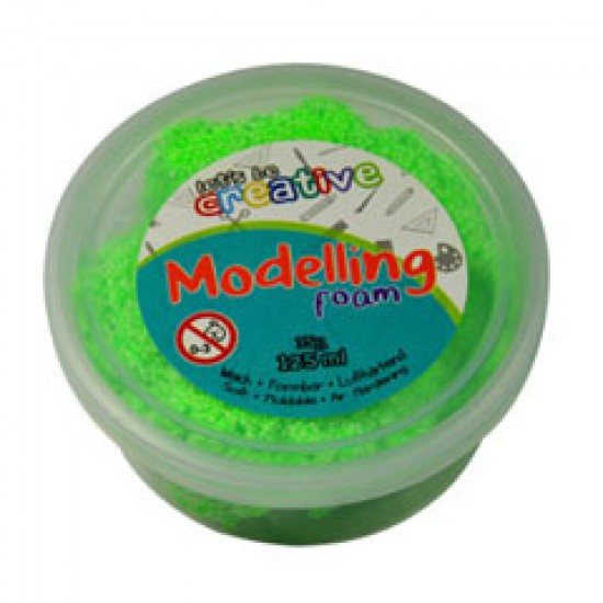 Modelling foam fluo groen pot van 125ml