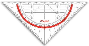 geodriehoek maped flexibel 16cm