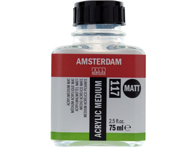 amsterdam acryl medium mat fles 75ml