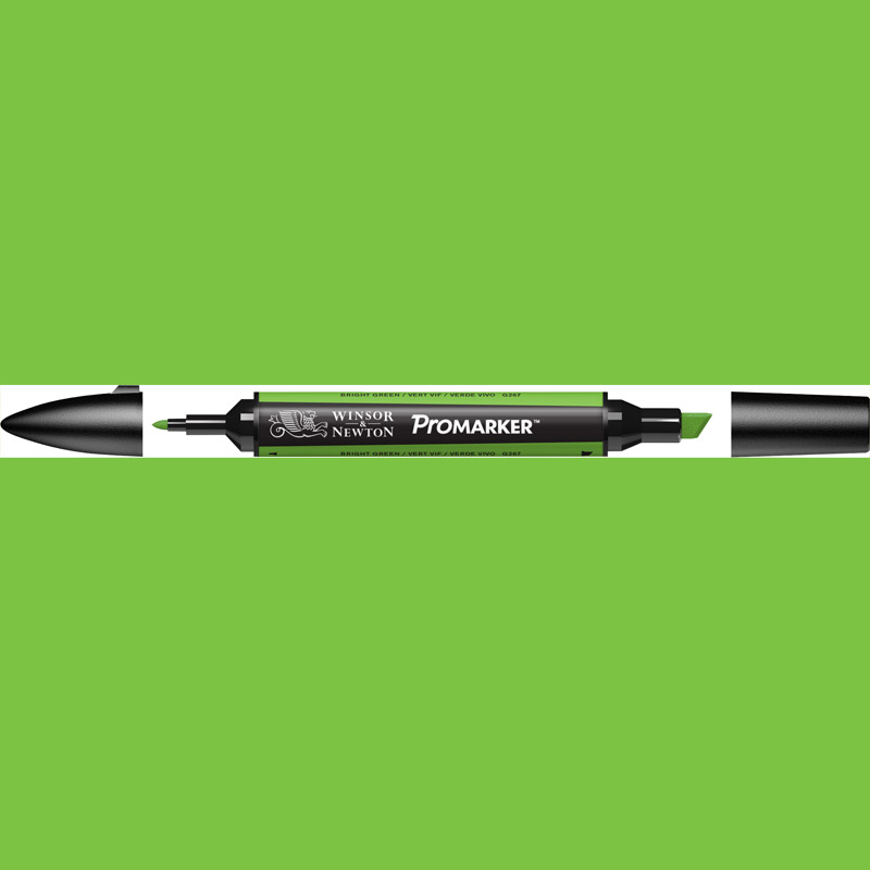 promarker tekenstift op alcoholbasis 2 tips G267 bright green