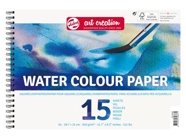 Tekenblok art creation aquarelpapier 250gr  A4